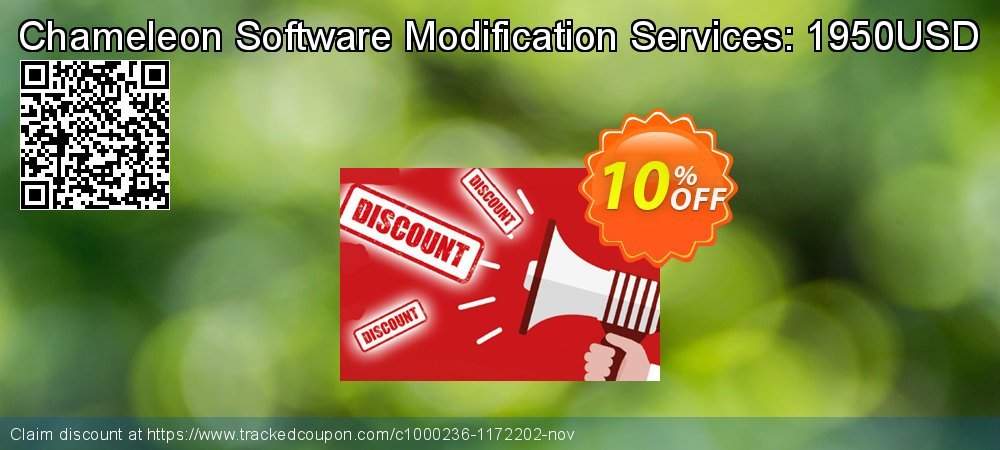 Get 10% OFF Chameleon Software Modification Services: 1950USD offer