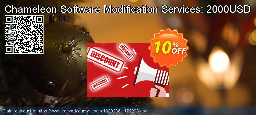 Get 10% OFF Chameleon Software Modification Services: 2000USD offering sales