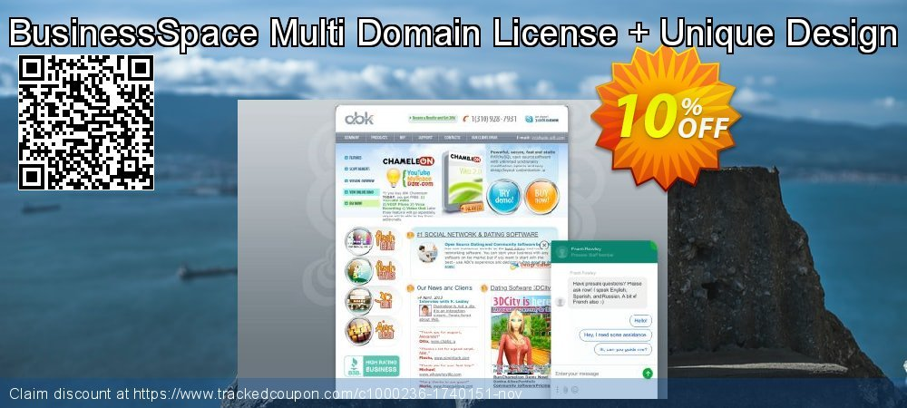 BusinessSpace Multi Domain License + Unique Design coupon on Back to School coupons offer