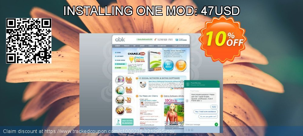 Get 10% OFF INSTALLING ONE MOD: 47USD promo sales