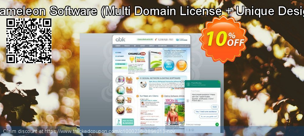 Chameleon Software - Multi Domain License + Unique Design  coupon on Back to School promotions offer
