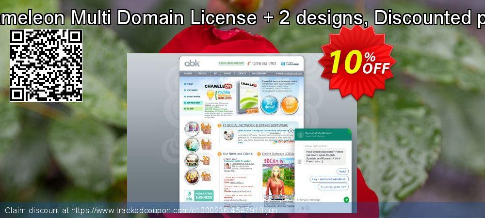 Get 10% OFF Chameleon Multi Domain License + 2 designs, Discounted price promo