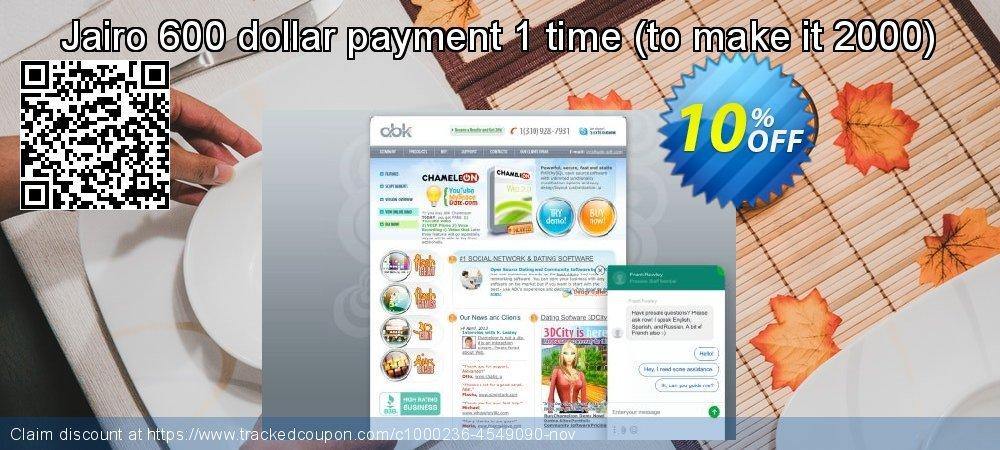 10% OFF Chameleon Software Modification Services: 750USD