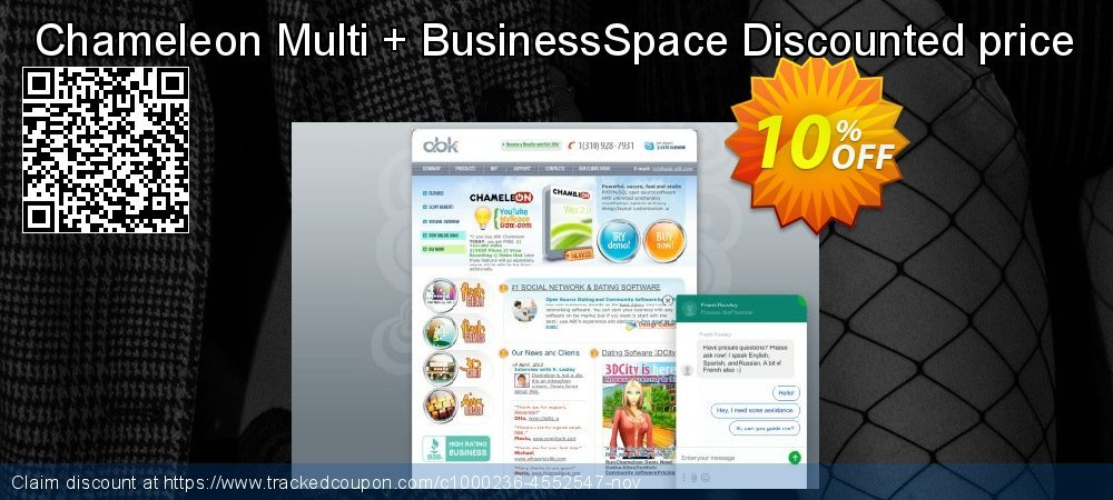Chameleon Multi + BusinessSpace Discounted price coupon on Back to School season super sale