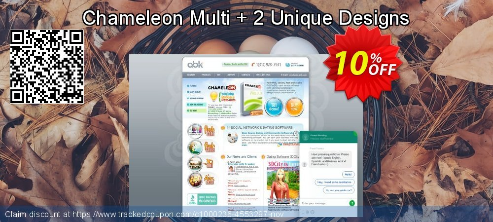 Chameleon Multi + 2 Unique Designs coupon on Halloween deals