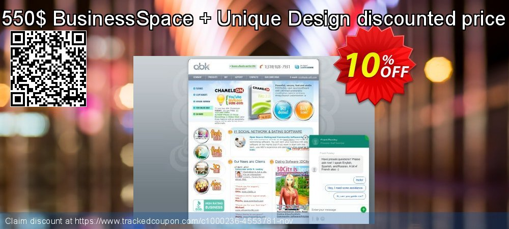 550$ BusinessSpace + Unique Design discounted price coupon on Back to School promo discounts