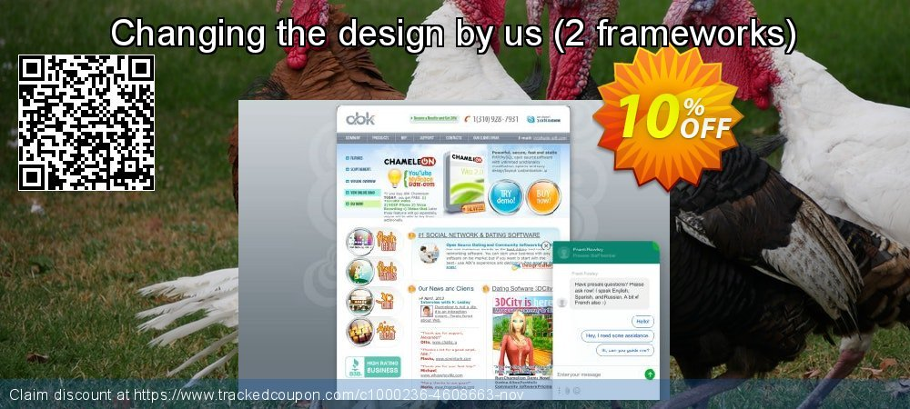 Get 10% OFF Changing the design by us (2 frameworks) offering sales