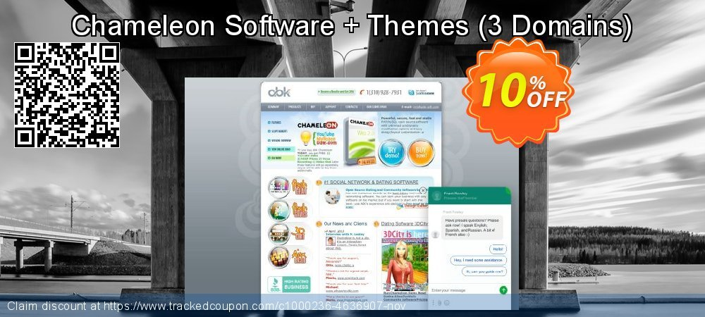 Chameleon Software + Themes - 3 Domains  coupon on University Student deals sales