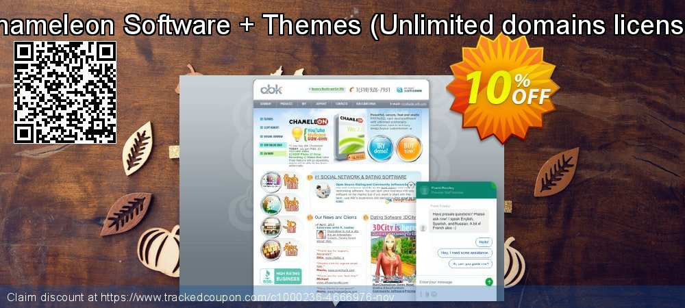 Chameleon Software + Themes - Unlimited domains license  coupon on Student deals sales