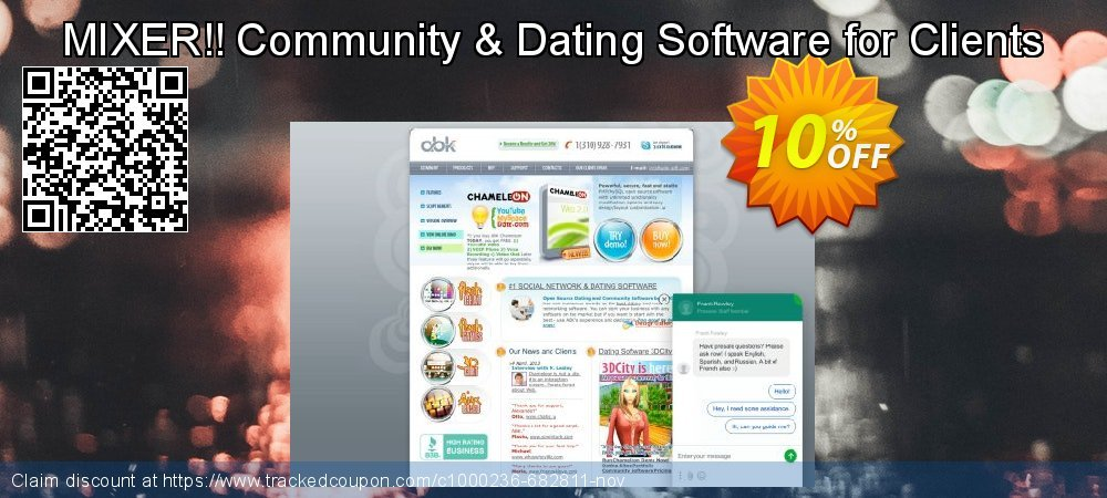 MIXER!! Community & Dating Software for Clients coupon on Black Friday offer