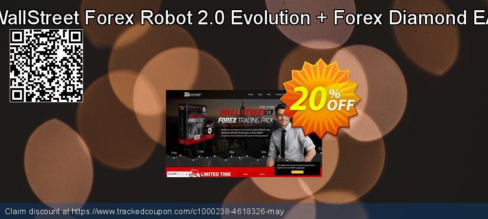Get 20% OFF WallStreet Forex Robot 2.0 Evolution + Forex Diamond EA offering sales