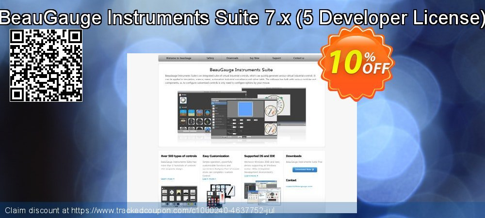 BeauGauge Instruments Suite 7.x - 5 Developer License  coupon on New Year offering discount