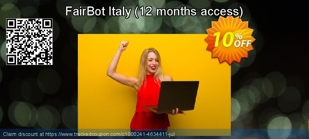Get 10% OFF FairBot Italy (12 months access) offering sales