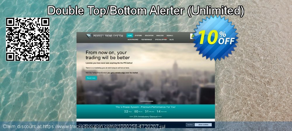 Get 10% OFF Double Top/Bottom Alerter (Unlimited) offer
