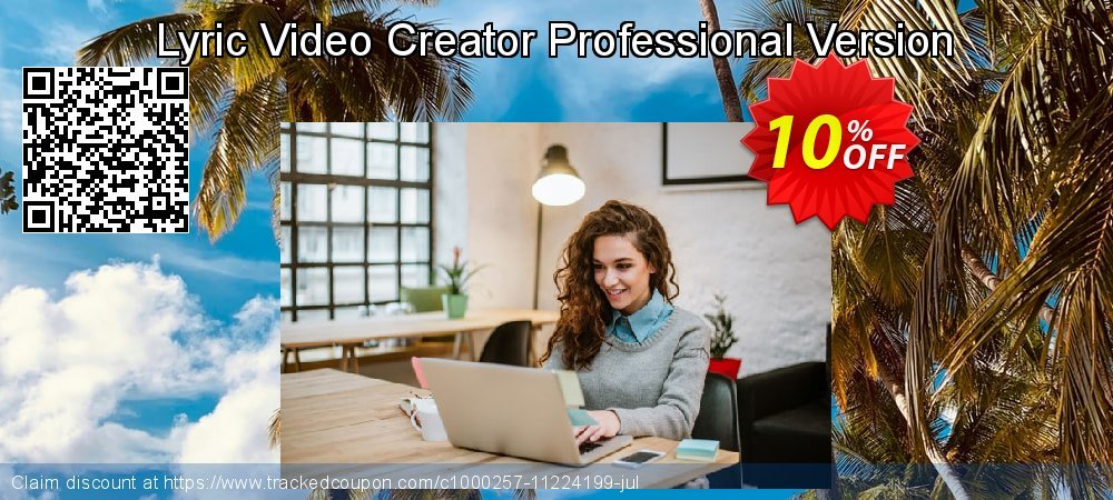 Lyric Video Creator Professional Version coupon on Mothers Day offer