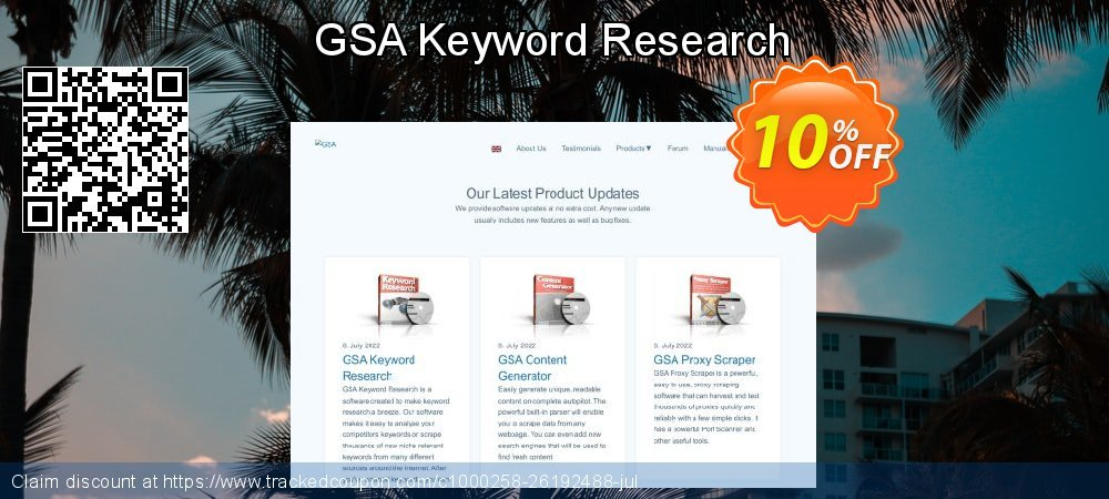 GSA Keyword Research coupon on World Bicycle Day super sale