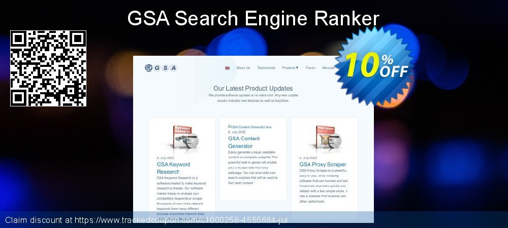 GSA Search Engine Ranker coupon on Mom Day offer
