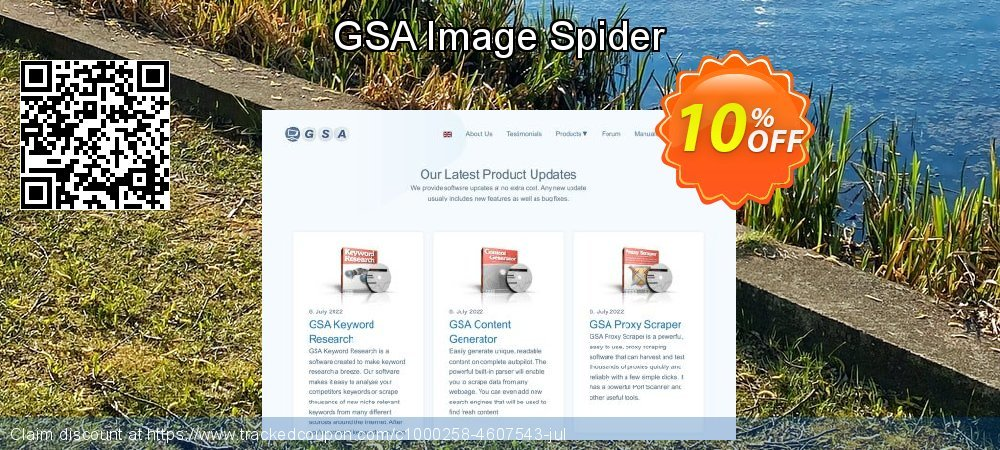 Get 10% OFF GSA Image Spider offering sales