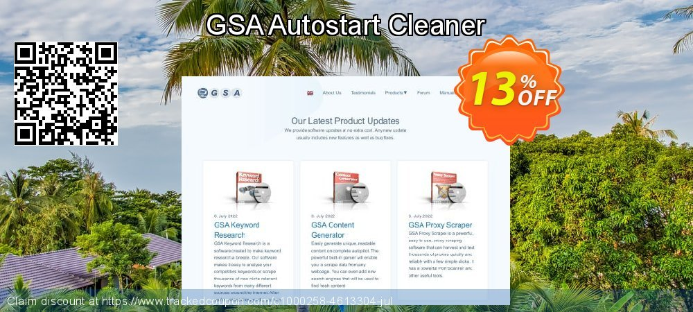 GSA Autostart Cleaner coupon on Mom Day offering discount