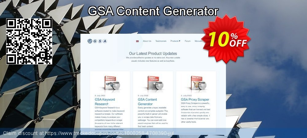 GSA Content Generator coupon on Mom Day offering sales