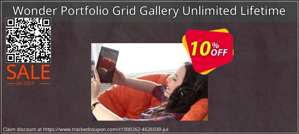 Get 10% OFF Wonder Portfolio Grid Gallery Unlimited Lifetime promotions
