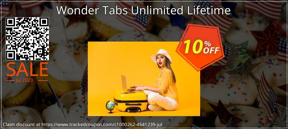 Get 10% OFF Wonder Tabs Unlimited Lifetime offering sales