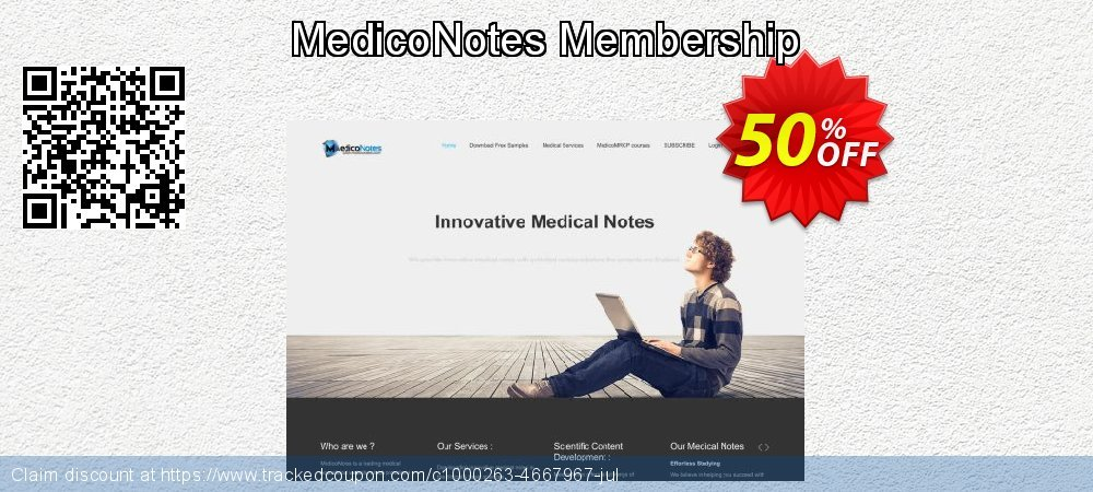 Get 50% OFF MedicoNotes Membership offering deals