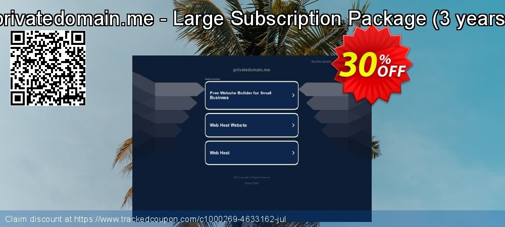 privatedomain.me - Large Subscription Package - 3 years  coupon on Happy New Year super sale