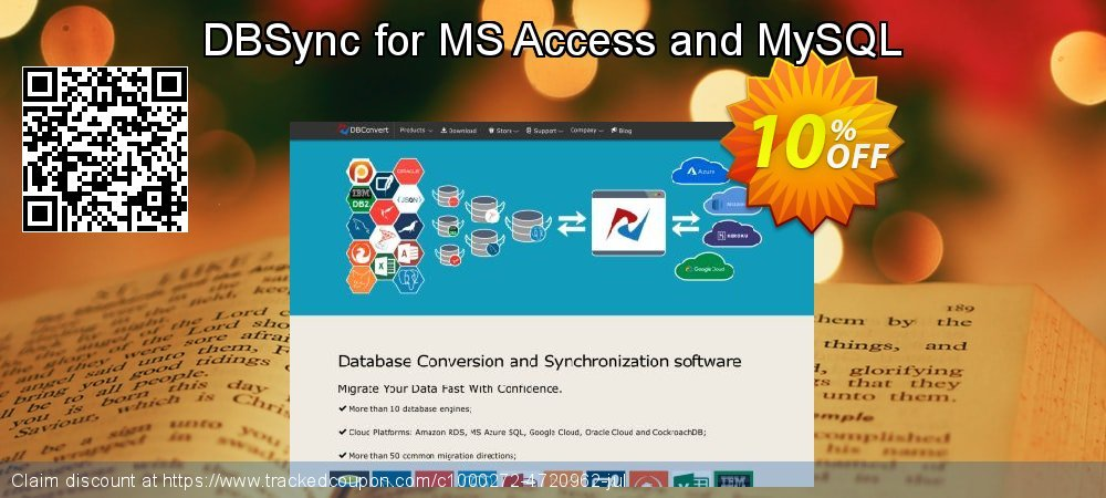 Get 10% OFF DBSync for MS Access and MySQL offering sales
