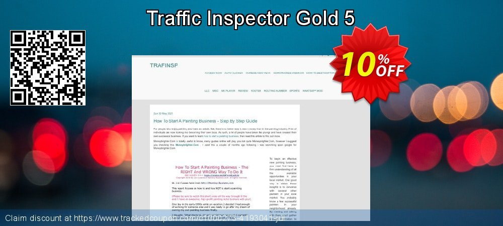 Get 10% OFF Traffic Inspector Gold 5 sales