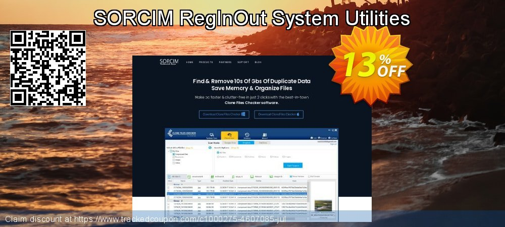 SORCIM RegInOut System Utilities coupon on Back to School discounts