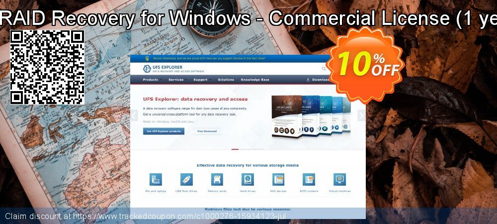 UFS Explorer RAID Recovery for Windows - Commercial License - 1 year of updates  coupon on Halloween discounts