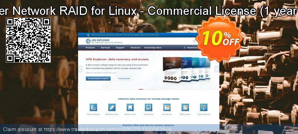 UFS Explorer Network RAID for Linux - Commercial License - 1 year of updates  coupon on Halloween sales