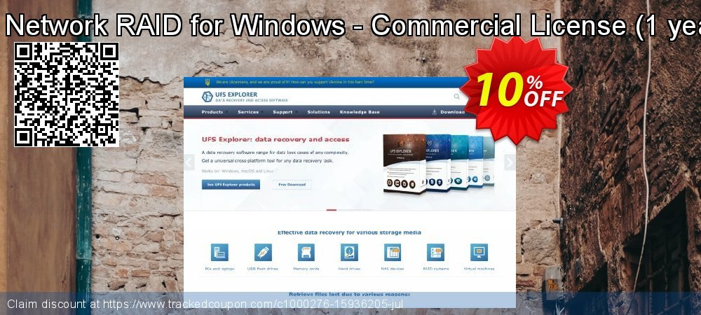 UFS Explorer Network RAID for Windows - Commercial License - 1 year of updates  coupon on Halloween deals