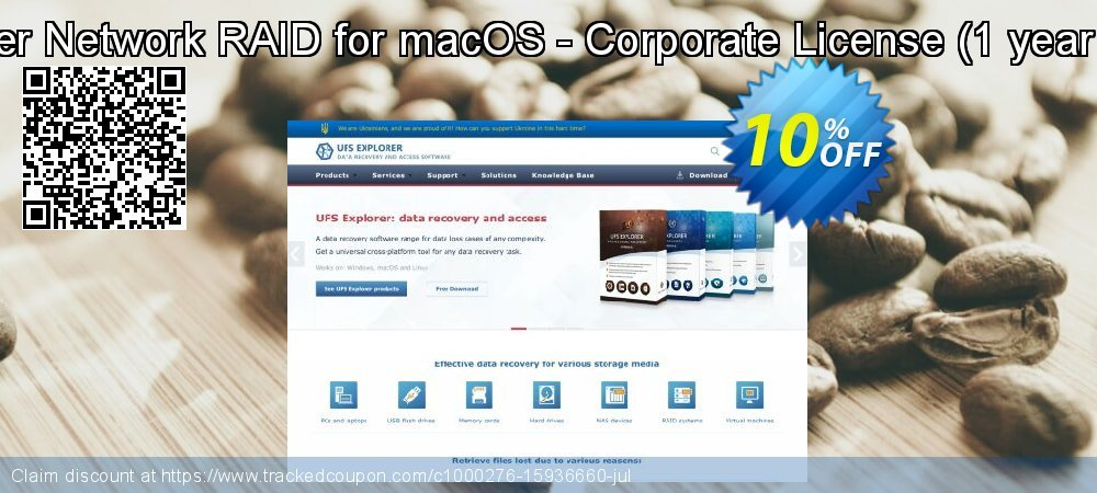 UFS Explorer Network RAID for macOS - Corporate License - 1 year of updates  coupon on April Fool's Day offering sales