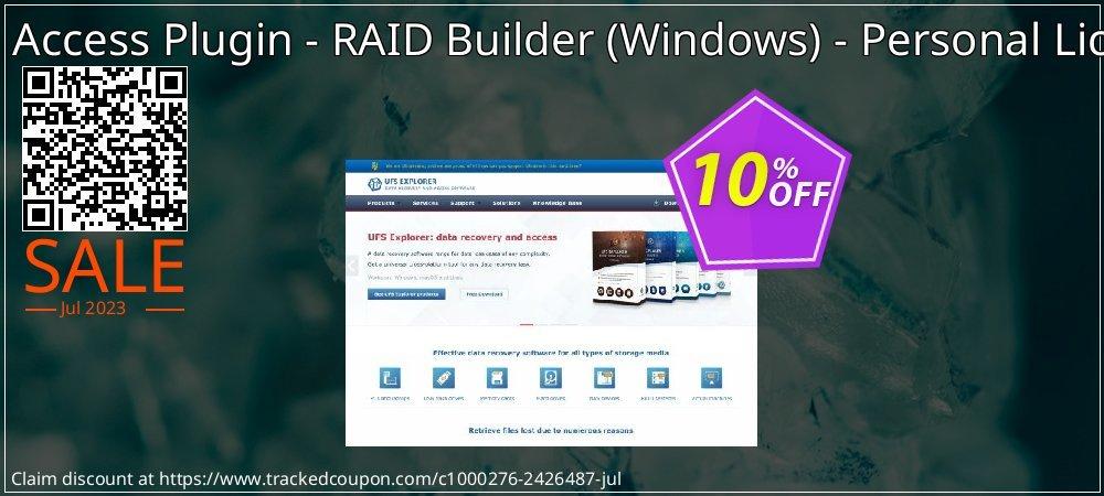 RAID Access Plugin - RAID Builder - Windows - Personal License coupon on Halloween discount