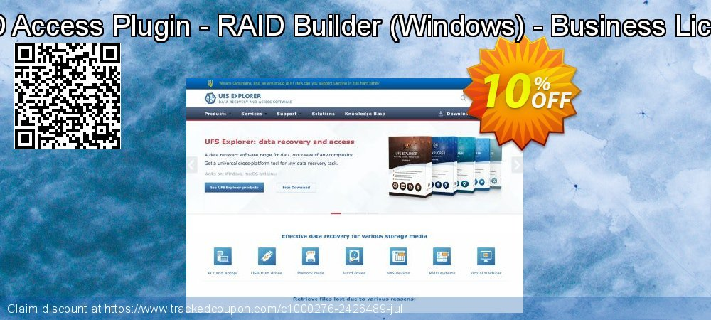 Get 10% OFF RAID Access Plugin - RAID Builder (Windows) - Business License discounts