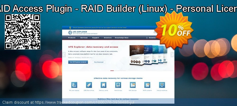 RAID Access Plugin - RAID Builder - Linux - Personal License coupon on Halloween offer