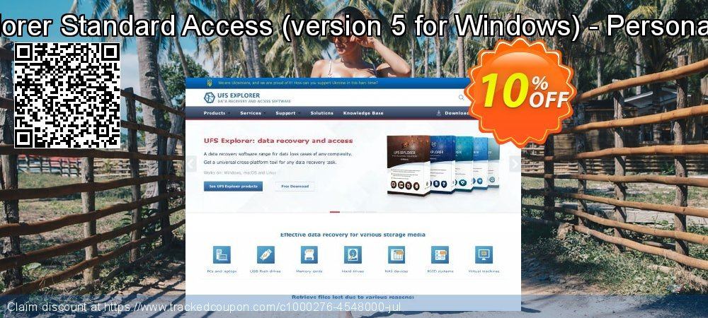 Get 10% OFF UFS Explorer Standard Access (version 5 for Windows) - Personal License promo