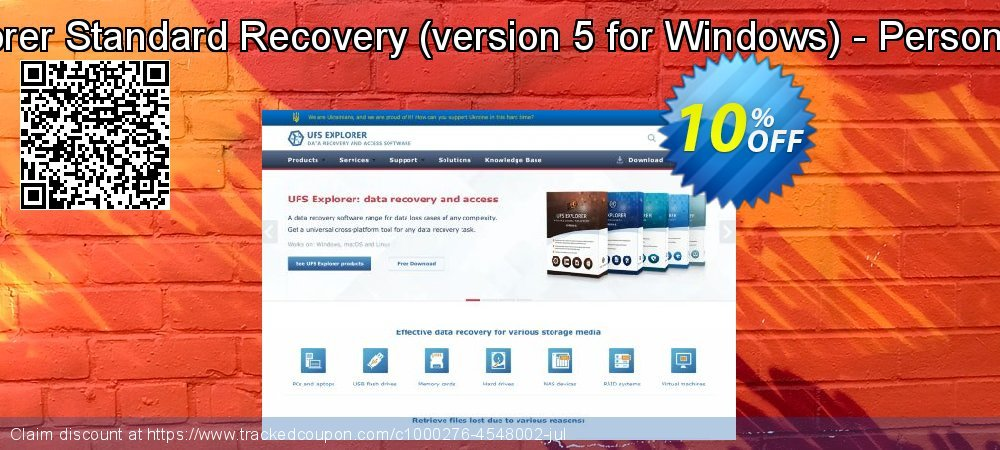 UFS Explorer Standard Recovery - version 5 for Windows - Personal License coupon on Halloween offer