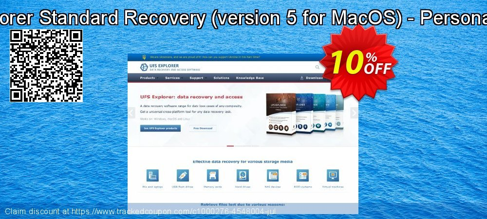 UFS Explorer Standard Recovery - version 5 for MacOS - Personal License coupon on Halloween offering discount