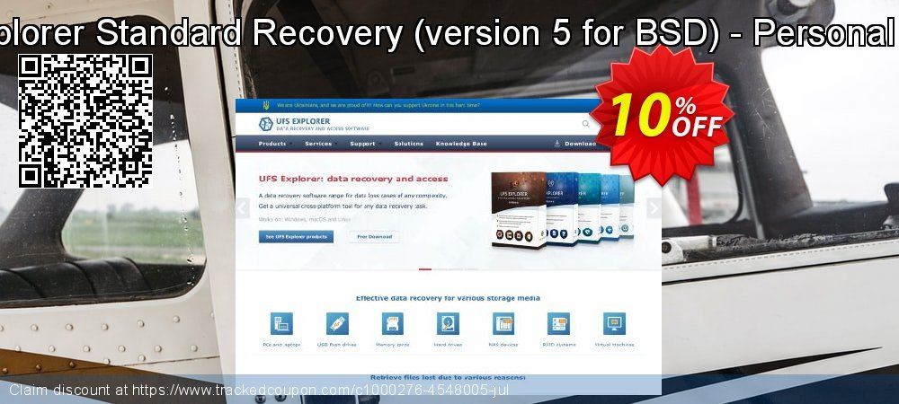 UFS Explorer Standard Recovery - version 5 for BSD - Personal License coupon on Halloween offering sales