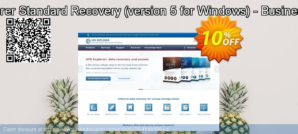 UFS Explorer Standard Recovery - version 5 for Windows - Business License coupon on Halloween super sale