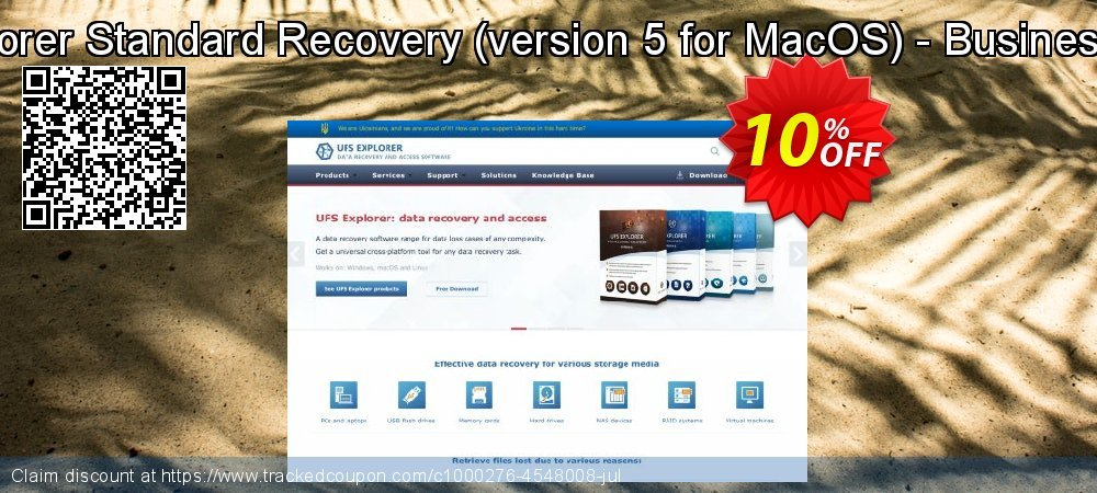 UFS Explorer Standard Recovery - version 5 for MacOS - Business License coupon on Halloween promotions