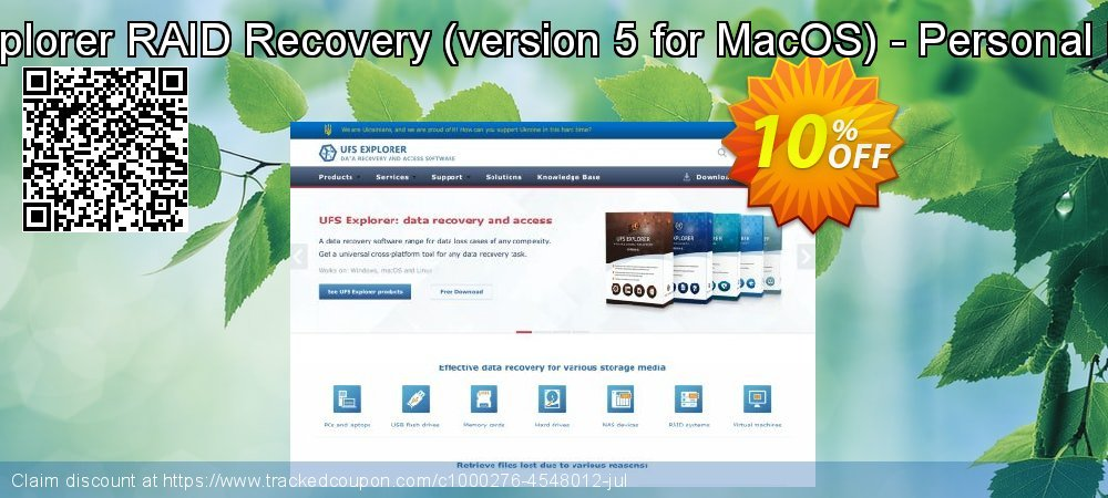 UFS Explorer RAID Recovery - version 5 for MacOS - Personal License coupon on Halloween discount