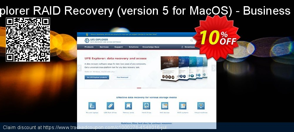 UFS Explorer RAID Recovery - version 5 for MacOS - Business License coupon on Halloween discounts