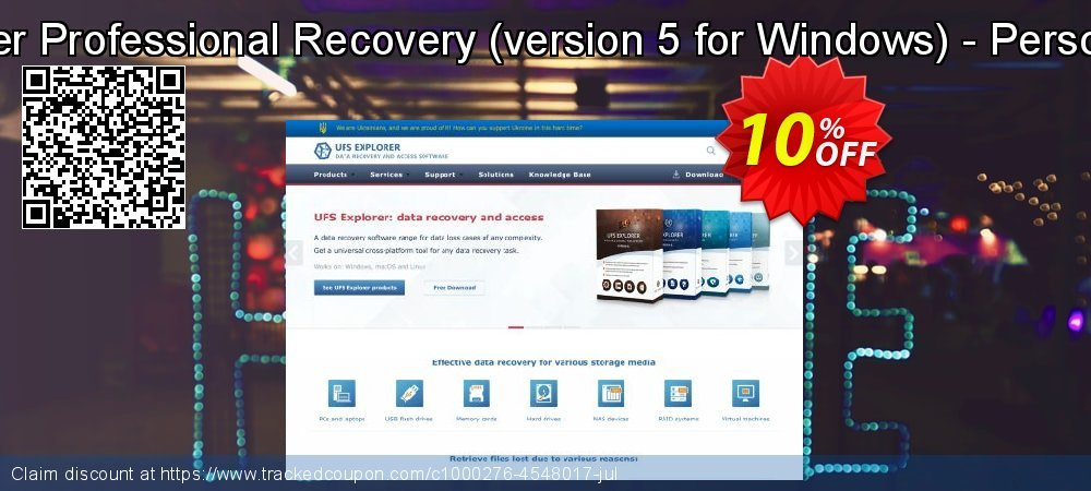 UFS Explorer Professional Recovery - version 5 for Windows - Personal License coupon on Halloween promotions