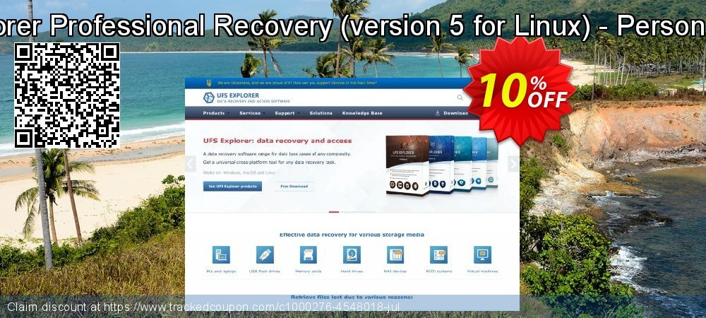 UFS Explorer Professional Recovery - version 5 for Linux - Personal License coupon on Halloween sales