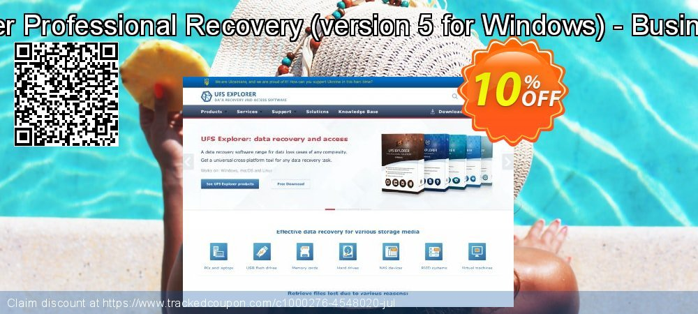 UFS Explorer Professional Recovery - version 5 for Windows - Business License coupon on Halloween offer