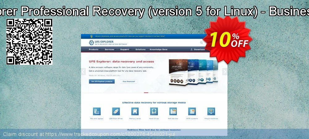 UFS Explorer Professional Recovery - version 5 for Linux - Business License coupon on Halloween discount